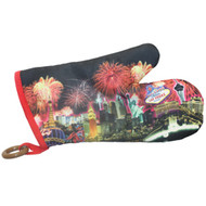 "Las Vegas ""Fireworks"" Oven Mitt"