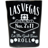 Black Whisky square Las Vegas Shot glass