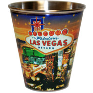 Las Vegas Star Tin Shot Glass