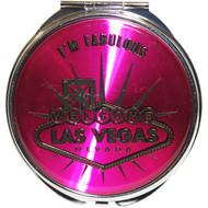 "Las Vegas ""I'm Fabulous"" Round Compact Mirror"