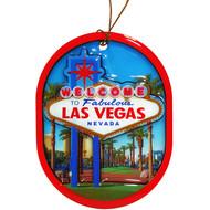 "Oval ""Las Vegas Sign"" Ornament"