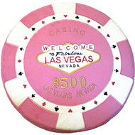 Pink- $500 Poker Chip Pillow