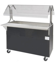 3 Pan Ice Cooled Portable Food Buffet Table ADVANCE TABCO 34-CPU-SB