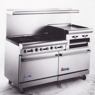 "Heavy Duty Gas Restaurant Range With Raised Griddle, 60""w. - AR6B-24RG"
