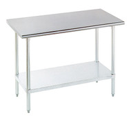 "Ecomony Stainless Steel Top Work Table, 30""w. x 72""l. ADVANCE TABCO ELAG-306-X"