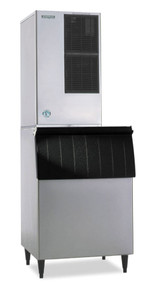 Ice Maker, Cube-Style, air-cooled, self-contained condenser, approximately 661-lb capacity/24-hours, stainless steel finish, crescent cube style, R-404A refrigerant, 208-230v/60/1-ph, 7.2 amps, ENERGY STAR® (SHOWN WITH OPTIONAL BIN)