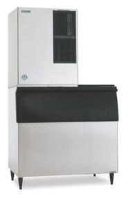 "Ice Maker, Cube-Style, 30""W, air-cooled, self-contained condenser, production capacity up to 905 lb/24 hours at 70°/50° (753 lb AHRI certified at 90°/70°), crescent cube style, stainless steel exterior, R-404A refrigerant, 208-230v/60/1-ph, 13.0 amps, NSF, UL. SHOWN WITH OPTIONAL BIN"