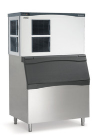 Prodigy™Plus Ice Maker, Cube Style, air-cooled, self-contained condenser, up to 1553-lb production/24 hours, stainless steel finish, medium cube size, 208-230v/60/1-ph, 17.7 amps, ENERGY STAR® Shown with optional bin.