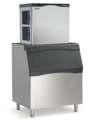 "Prodigy® Modular Cube Ice Maker 905 lb ice per 24 hour. 30""w x 24""d x 29""h. Air cooled. Small cube. Shown with optional bin."