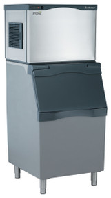 "Prodigy™ Plus Ice Maker, Cube Style, air-cooled, self-contained condenser, up to 525-lb production/24 hours, stainless steel finish, medium cube size, 115v/60/1-ph, 15.2 amps, ENERGY STAR® 30""w x 24""d x 23""h. Air cooled. Medium cube. Shown with optional bin."