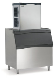 Prodigy™ Plus Ice Maker, Cube Style, air-cooled, self-contained condenser, up to 1077-lb production/24 hours, stainless steel finish, small cube size, 208-230v/60/1-ph, 16.0 amps, ENERGY STAR®. Shown with optional bin.