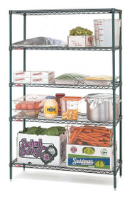 "Super Erecta® Convenience Pak Shelving Unit, 36""W x 18""D x 74""H, (4) wire shelves with clips & (4) split posts with adjustable feet, Metroseal 3™ finish, KD, NSF"