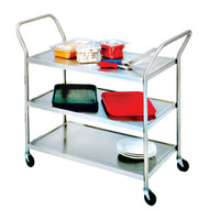 Lite™ Series Heavy Duty Wire Utility Cart ADVANCE TABCO UC-3-2433-X