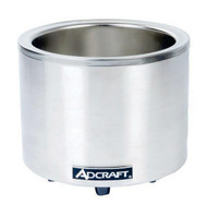 Countertop 7/11 Qt. Round Food Pan Cooker/Warmer ADCRAFT FW-1200WR