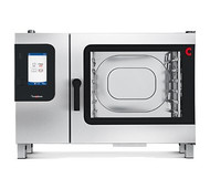"""Convotherm Combi Oven/Steamer, gas, with steam generator, (6) 18"""" x 26"""" full size sheet pan or (12) 12"""" x 20"""" x 2-1/2"""" hotel pan capacity, 9"""" easyTouch control panel, 20 stages each & 399 cooking recipes storage, (4) cooking modes: hot air, steam, combi-steam & retherm, multi-point core temperature probe, five-speed auto reversing fan, anti-microbial hygienic door handle, pull-out spray hose, stainless steel construction"""