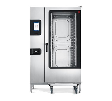 """Convotherm Combi Oven/Steamer, roll-in, gas, with steam generator, (20) 18"""" x 26"""" full size sheet pan or (40) 12"""" x 20"""" x 2-1/2"""" hotel pan capacity, 9"""" easyTouch control panel, 20 stages each & 399 cooking recipes storage, (4) cooking modes: hot air, steam, combi-steam & retherm, multi-point core temperature probe, five-speed auto reversing fan, anti-microbial hygienic door handle, pull-out spray hose, stainless steel construction"""