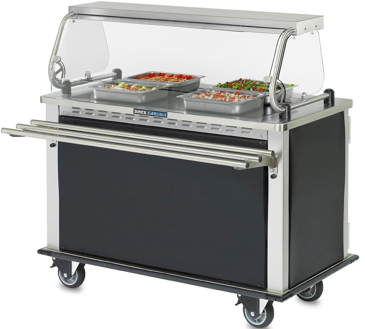 Dinner Delivery Cart Heated Refrigerated Mealtime Express