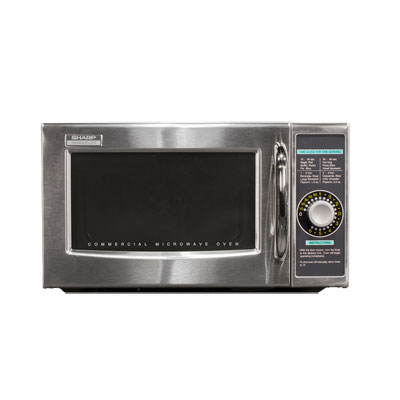 Microwave Oven, 1000 watts, 1.0 cu. ft. capacity, stainless steel door, cavity and outer wrapper, durable side-hinged see-thru door, (1) power level, 6 minutes manual light up dial timer, timer heating-time guide, timer resets to 0 when door is opened during cooking cycle, 120v/60/1-ph, 14 amp, NEMA 5-15P, UL, NSF
