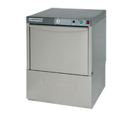 "Dishwasher, undercounter, 24""W x 25""D x 33-3/4""H, low temperature chemical sanitizing, (21) racks/hour capacity, top mounted controls, air glide door with safety switch, upper & lower interchangeable wash/rinse spray arms, pumped drain operation, built-in detergent/rinse-aid/sanitizer dispensing pumps, fill & dump operation, electric tank heater with low-water protection, stainless steel top & side panels, 1 HP wash pump motor, includes: (1) peg rack & (1) flat rack, voltage 115/60/1, 12 amp draw; to be fused at 15 amp, 4 ft. plug-in cord supplied, UL, cETLus, NSF"