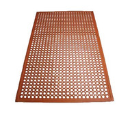 "Floor Mat, 3' x 5' x 1/2"" thick, grease proof, beveled edges, rubber, red (call for pallet rate)"