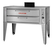 "Pizza Oven, deck-type, gas, 33""W x 22""D deck interior, (1) 7"" high section, mechanical thermostat, Ultra Rokite deck, counterbalanced door with concealed hinges, full angle iron frame, stainless steel top, front, sides and back, 27-1/2"" stainless steel legs, 27,000 BTU, cETLus, NSF"