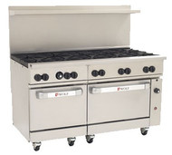 "Challenger XL™ Restaurant Range, 60"", gas, (10) 30,000 BTU burners with lift-off burner heads, (2) standard oven bases, stainless steel front, sides, back riser & high shelf, fully-welded chassis, 6"" adjustable legs, 358,000 BTU, CSA, NSF"