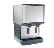 Meridian™ Ice Machine/Dispenser, with water dispenser, H2 Nugget Ice, air cooled, up to 500 lb production/24 hour, 25 lb bin storage capacity, stainless exterior, external air filter, AgION™ antimicrobial protection, R-404a refrigerant, 115V/60/1, 9.0 amps, cULus