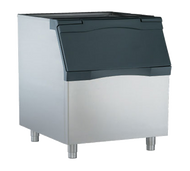 "Bin Top, for use with all 30"" modular cubers, flakers or nugget makers on B948S, BH900 bin. (B948S PICTURED Ice Bin, top-hinged front-opening door, up to 893 lb ice storage capacity, for top-mounted ice maker, polyethylene liner, metallic finish exterior, includes 6"" legs)"