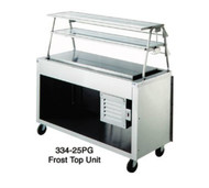"50 Hz AeroServ Frost Top Unit, 74""L, 24-1/2""W, 36""H, 20ga stainless steel top, 63"" x 17"" x 1"" high refrigerated display, perimeter trough, 1"" brass drain & plug, 20ga stainless steel body & undershelf, 6""H stainless steel legs & adjustable feet, 6' cord & plug"