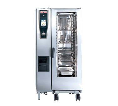 """SelfCooking Center® 5 Senses Combi Oven/Steamer, electric, (20) 13"""" x 18"""" half size sheet or (20) 12"""" x 20"""" full size hotel pan capacity, iCookingControl with 7 modes, HiDensityControl®,iLevelControl, Efficient CareControl, Combi-Steamer with 3 modes, core temp probe with 6 point measurement, hand shower with automatic retracting system, mobile oven rack included, ethernet interface, 208v/60/3-ph, 105.6 amps, 38.0 kW dual voltage: retrofitable to 240v/60/3-ph, 121.8 amps, 38.0 kW)"""
