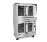 "50 Hz SilverStar Convection Oven, electric, double-deck, standard depth, solid state controls, interior light, aluminized steel rear, stainless steel front, top, sides & 6"" legs, (2) 1/2 HP, (2) 12 kW, UL, NSF"