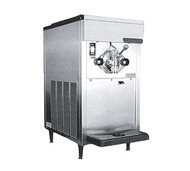 Soft Serve/Yogurt Freezer, counter model, air or water cooled, self-contained refrigeration, 1 head, 20 qt. mix capacity, welded steel frame, stainless steel exterior, electronic consistency control, automatic audible/visual mix out system, 1 HP dasher, 2 HP compressor, UL, cUL, NSF