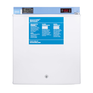 Pharmaceutical Compact Freezer, 1.4 cu.ft. capacity, high/low temperature alarm, manual defrost, digital thermostat, fan-cooled interior, solid door, front lock, RHD door swing, white exterior finish, 115v/60/1, 0.8 amps, ETL, cETL (Commercial)