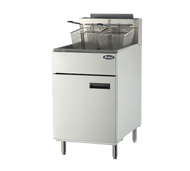 Heavy Duty Fryer, gas, floor model, 75 lb. capacity, (5) burners, standby pilots, 200°F- 400°F temperature range, self-reset high temperature limiting device, oil cooling zone seated in the bottom of the tank, stainless steel structure, adjustable stainless steel legs, 170,000 BTU, cETLus, ETL
