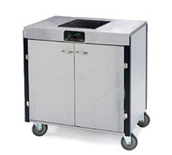 "MODEL 2060 Creation Express™ Station Mobile Cooking Cart, 34"" x 22"" x 35-1/2""H, temperature range 90° - 440°F, LED control panel, (1) induction heat stove, without filtration system, stainless steel top, stainless steel interior with laminated exterior, interior shelf, with doors, 5"" swivel No-Mark® polyurethane casters (2) with brakes, ETL"