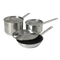 Optio™ Deluxe Cookware Set, (6) piece, includes: (1) each of 3802, 3907C, 3803, 3908C, N3809 & 3910C, induction ready, stainless steel, NSF