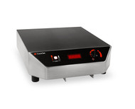 (MC1500) Heritage Induction Range, portable table-top, 1500 watts, single hob, glass-ceramic top, sloped front, temperature control knob, microprocessor with (20) power cook settings & auto shut-off, self-diagnostics, LED display, integral cooling fan & grease filter, stainless steel exterior, 100-120v/50/60/1-ph, 15.0 amps, 6 ft. cord, NEMA 5-15P, NSF, CE