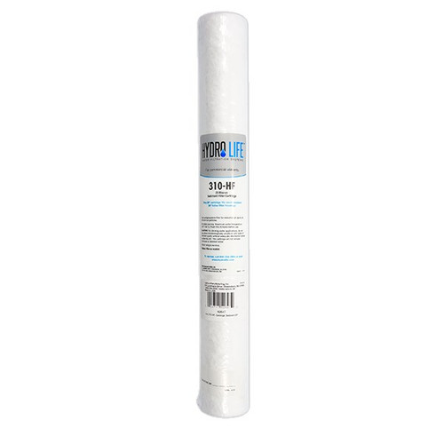 310 Water Filter Replacement Cartridge, KDF® triple water processing, removes or reduces sediment, 100° F max temperature, polypropylene, 25 micron, 20-100 PSI, 10 GPM (for models 52642 & 52644), NSF (priced per each, packed 6 each per case)