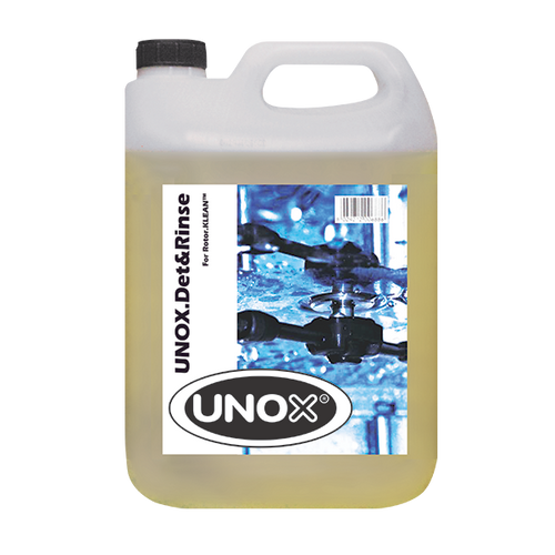 UNOX.Det&Rinse, (2) 5 liter bottles, cleaning chemicals for Rotor.Klean™, additional shipping charges for hazardous materials