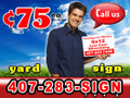 "100 Yard Sign 9"" x 12"" 1 Side 1 Color LOCAL PICKUP"