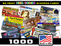 1000 Full Color Business Cards 2 sides UV Coat 14pt   FREE SHIPPING
