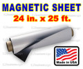 "Blank Magnetic Sign Sheet 30 Mil. 24"" width x 25  ft ROLL"