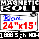 """Blank Magnetic Sign Sheet 30 Mil. 24"""" width x 15  ft ROLL"""