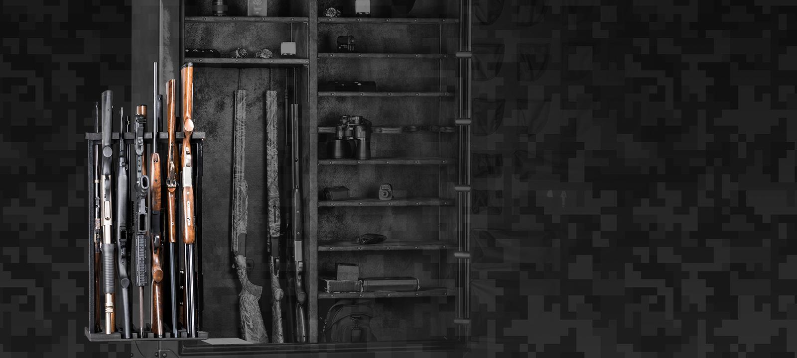 Patented Swing out gun rack