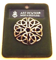 Art Pewter Celtic Knot Brooch