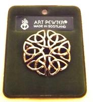 Art Pewter Celtic Knot Brooch