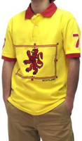 Short-Sleeved Yellow Lion Rampant Polo