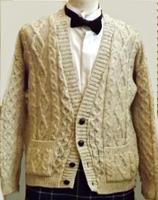 Men's British Wool Cardigan Sweater