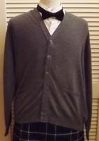 Men's Barrie Derby Gray Cardigan Sweater