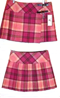 Pure New Wool Ladies Pink Plaid Skirt